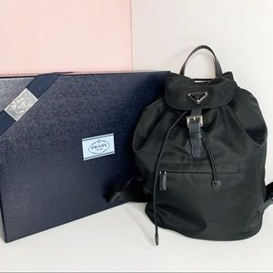 Authentic Prada Nylon Backpack With Box